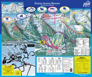 Fernie Alpine trail map
