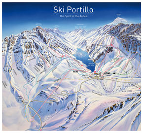Ski Portillo map