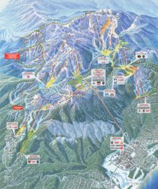 Heavenly Mountain Resort map