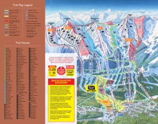 Kicking Horse trail map