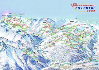 Mayrhofen trail map
