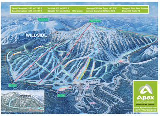 Apex Mountain Resort map